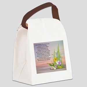 Mother's Day Prayer Canvas Lunch Bag
