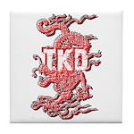 Taekwondo Dragon Tile Coaster