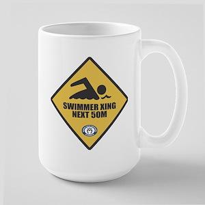 Swimmer Xing Large Mug