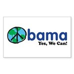 Obama Yes We Can Rectangle Sticker 50 pk)