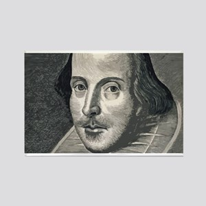 Wm Shakespeare Rectangle Magnet