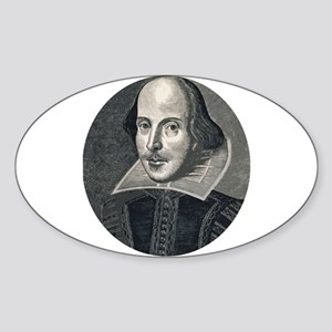 Wm Shakespeare Sticker (Oval)