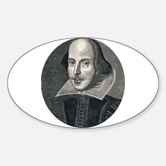 Wm Shakespeare Sticker (Oval)