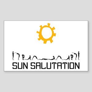 Sun Salutation Rectangle Sticker