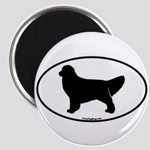 Golden Retriever Oval Magnet
