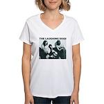 Laughing Dogs Women's V-Neck T-Shirt