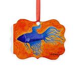 Ruby Blue Ornament