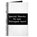 special thanks to our bilingual hero Journal