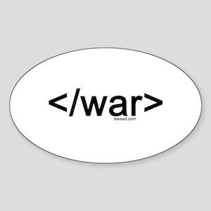end war Oval Sticker