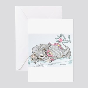 Greeting Cards (Pk of 10) Saluki Xmas