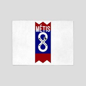Métis Flag and Sash 5'x7'Area Rug