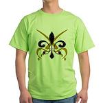Fleur De Lis Pirate Green T-Shirt