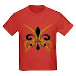 Fleur De Lis Pirate Kids Dark T-Shirt