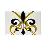 Fleur De Lis Pirate Rectangle Magnet (100 pack)
