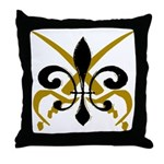 Fleur De Lis Pirate Throw Pillow