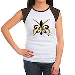 Fleur De Lis Pirate Women's Cap Sleeve T-Shirt