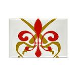 Fleur De Lis Pirate Rectangle Magnet (10 pack)