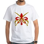 Fleur De Lis Pirate White T-Shirt