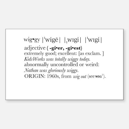 Wiggy Definition Decal