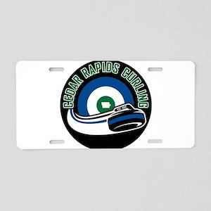 Cedar Rapids Curling Aluminum License Plate