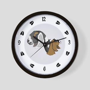 Nubian Goat Wall Clock