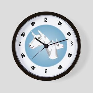 Saanen Goat Wall Clock