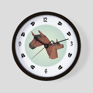 Oberhasli Goat Wall Clock