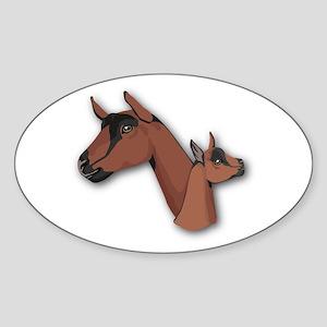 Oberhasli Goat Oval Sticker