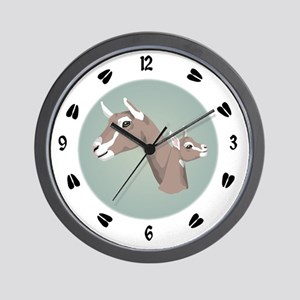 Toggenburg Goat Wall Clock