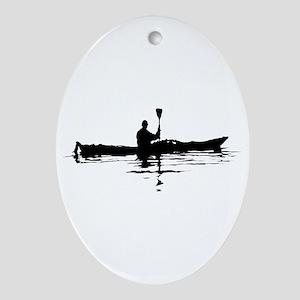 Kayaking Oval Ornament
