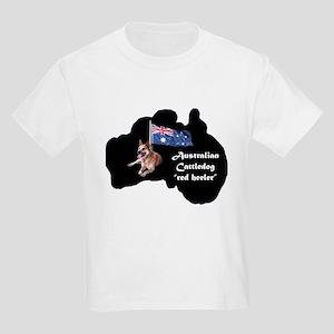 Cattledog with map Kids Light T-Shirt