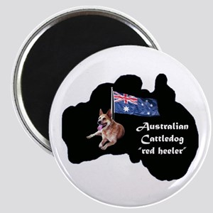Cattledog with map Magnet