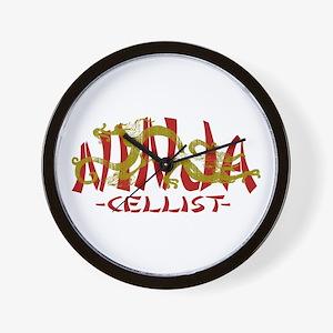 Dragon Ninja Cellist Wall Clock