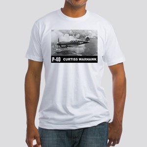 P-40 Curtiss Warhawk Fitted T-Shirt