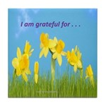 Gratitude is My Attitude Tile Coaster