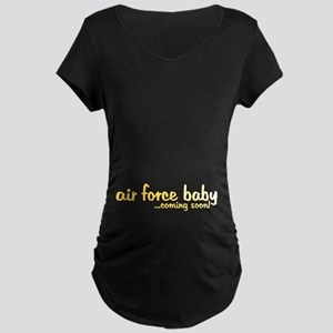 Coming Soon Maternity Dark T-Shirt
