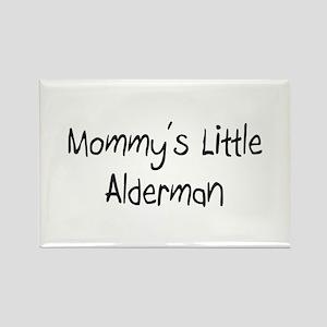 Mommy's Little Alderman Rectangle Magnet