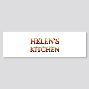 HELEN'S KITCHEN Bumper Sticker