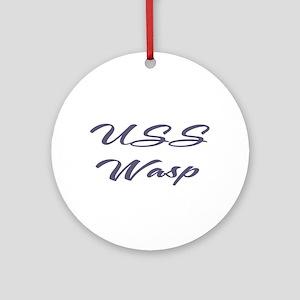 USS wasp Ornament (Round)