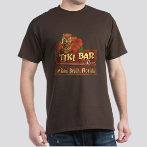 Miami Beach Tiki Bar - Dark T-Shirt