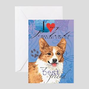 Pembroke Welsh Corgi Greeting Card