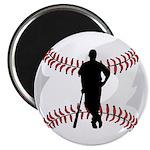 """Baseball Player 2.25"""" Magnet (100 pack)"""