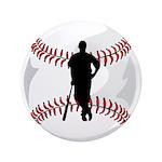 "Baseball Player 3.5"" Button (100 pack)"