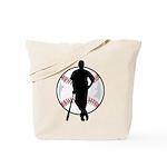 Baseball Player Tote Bag
