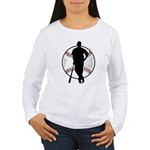 Baseball Player Women's Long Sleeve T-Shirt