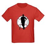 Baseball Player Kids Dark T-Shirt