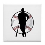 Baseball Player Tile Coaster