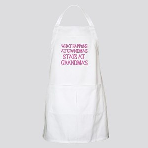 STAYS AT GRANDMA'S (pnk) BBQ Apron