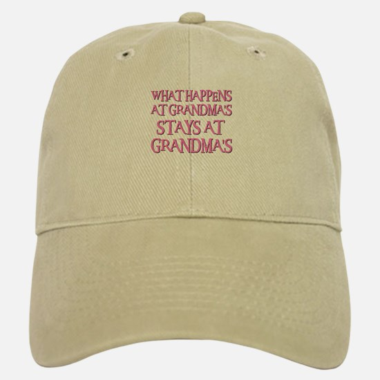 STAYS AT GRANDMA'S (pnk) Baseball Baseball Cap