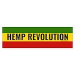 Hemp Revolution Rasta (bumper 50 Bumper Sticker